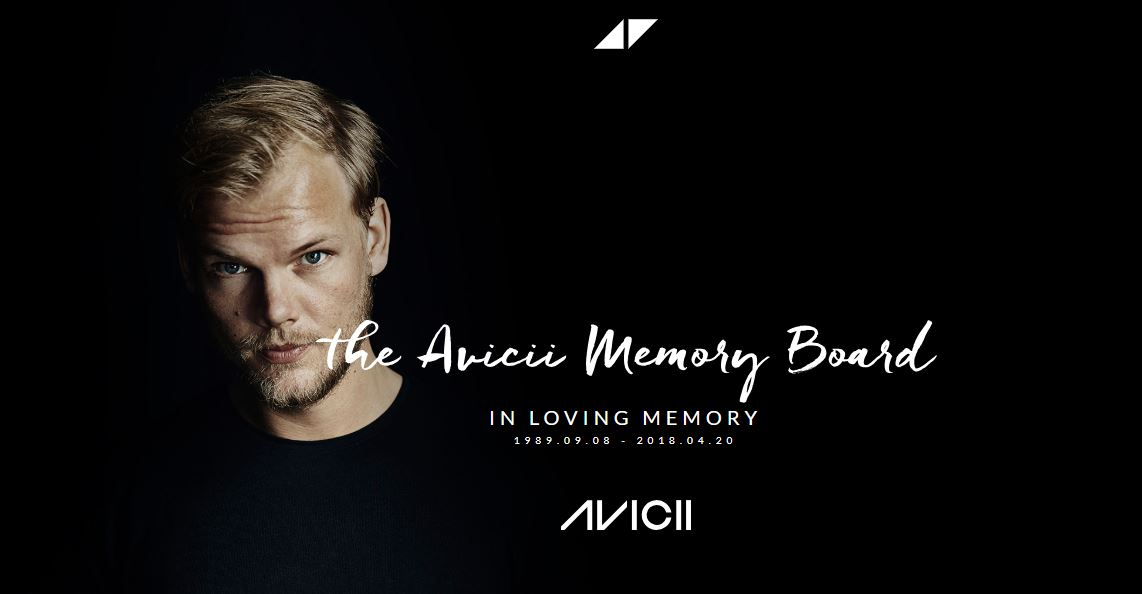 The remembrance forum for Avicii is open