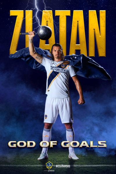 LA Galaxy Forward Zlatan Ibrahimović Scores 500th Career Goal