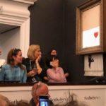 Banksy förstör sin målning värd 1 miljon pund