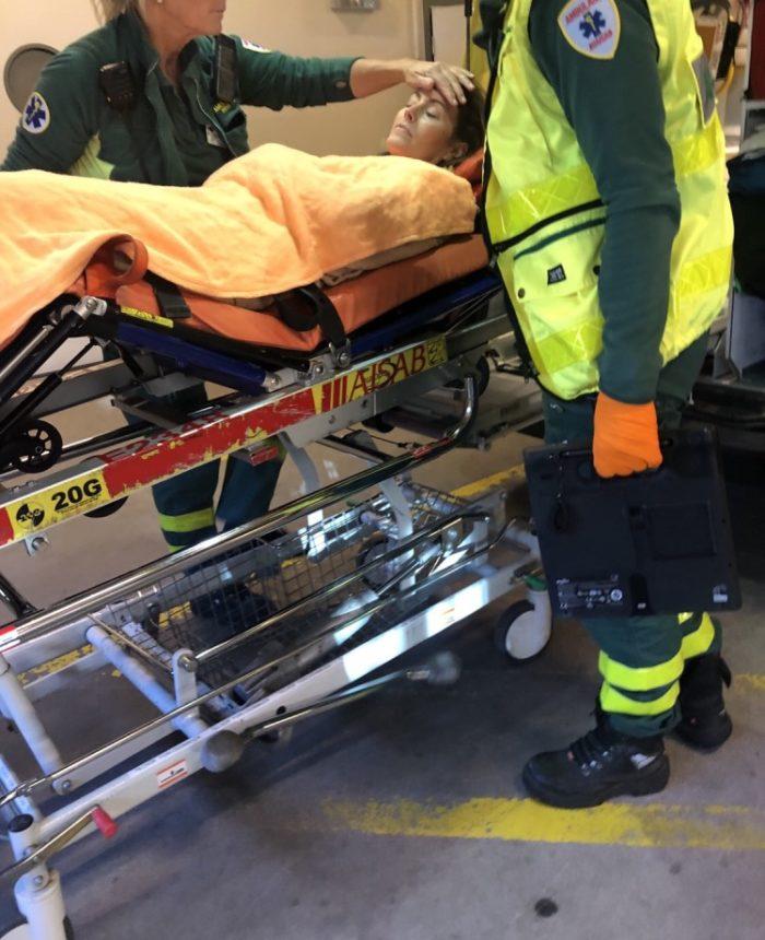 Pernilla Wahlgrens kompis Jessica svimmade plötsligt