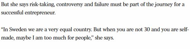 Isabella Löwengrips intervju i The Australian