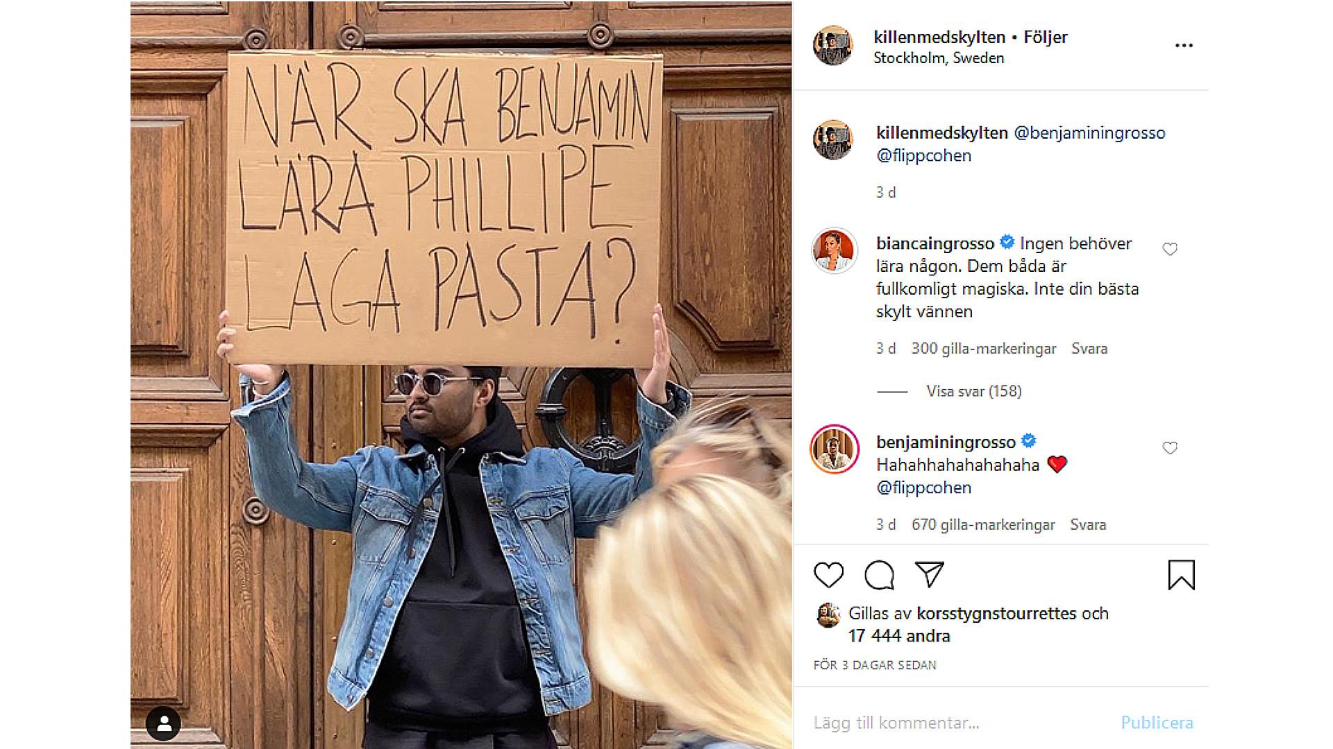 Bianca Ingrosso säger sitt på Instagram