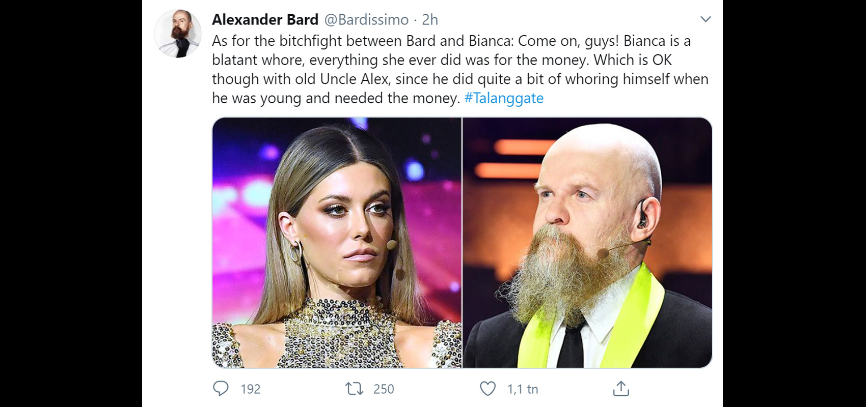 Alexander Bard - Bianca Ingrosso är en skamlös hora