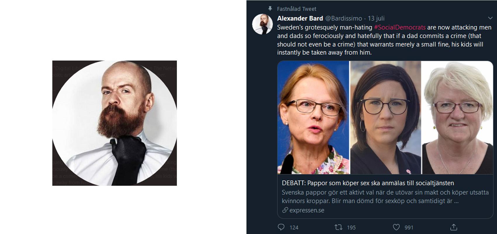 Alexander Bard tycker inte att det ska vara olagligt att köpa sex