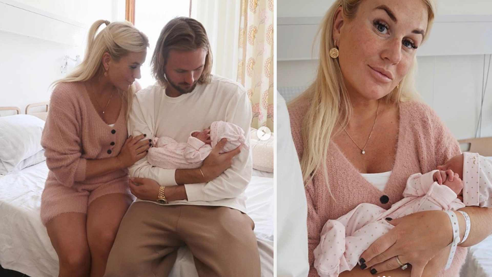 Melina och Jacob Criborn har fått en dotter