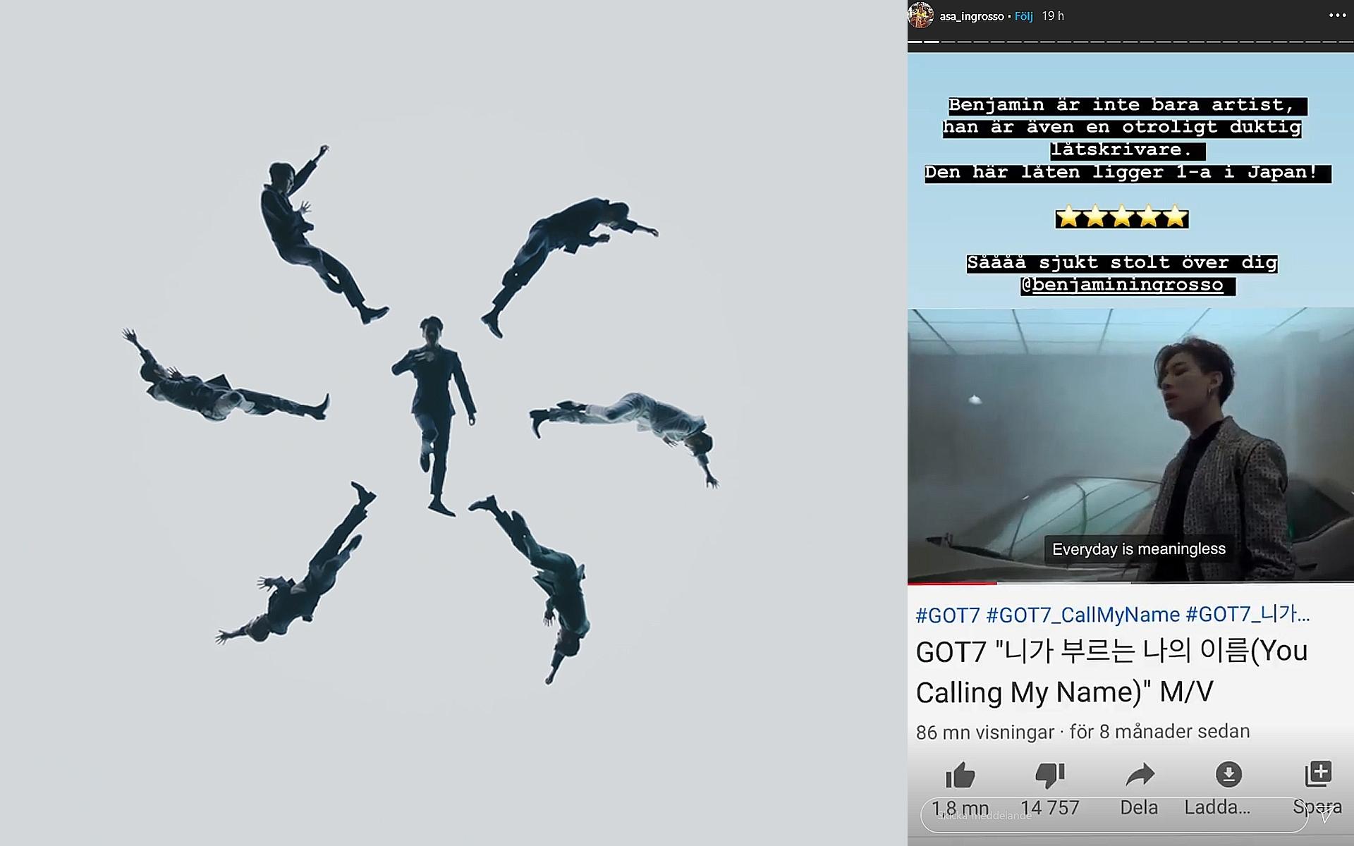 Benjamin Ingrossos låt för Sydkoreanska GOT7