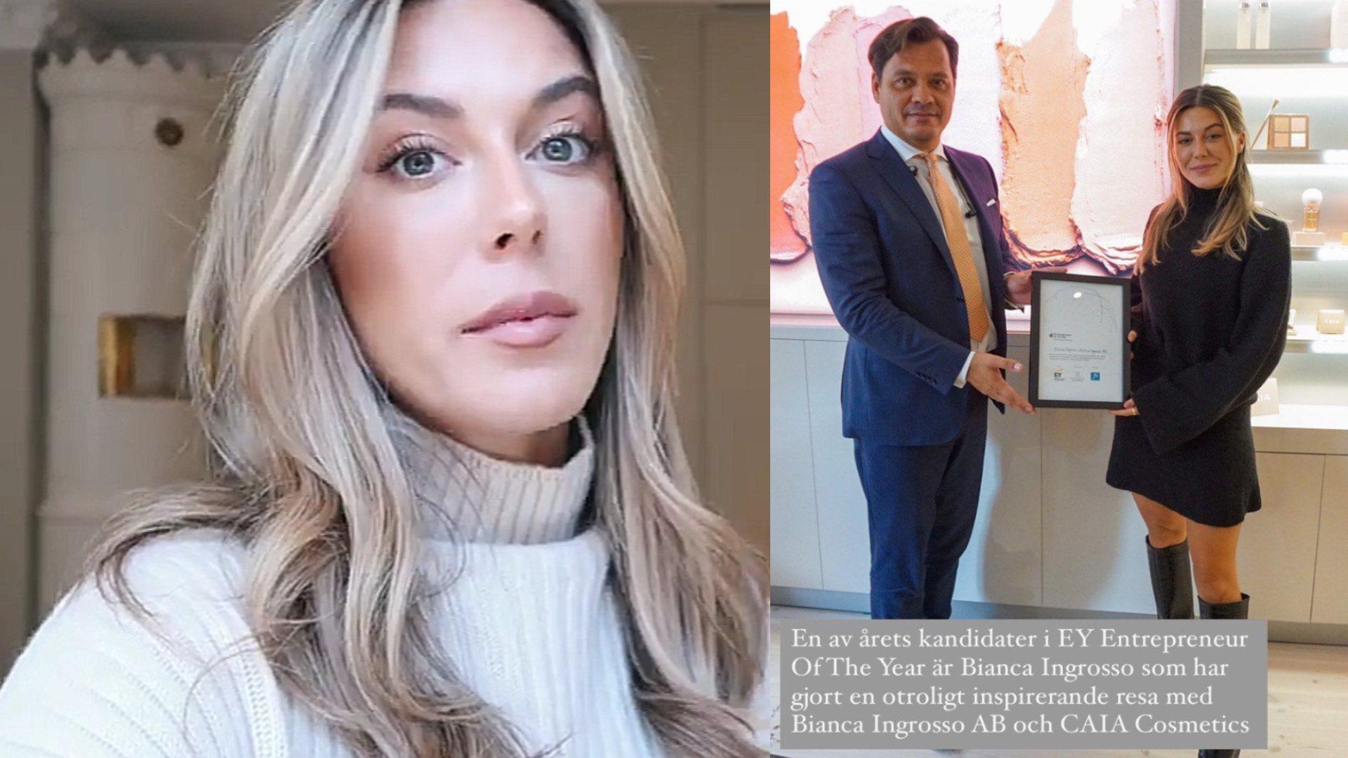 Bianca Ingrosso är med och tävlar i världens största entreprenörstävling