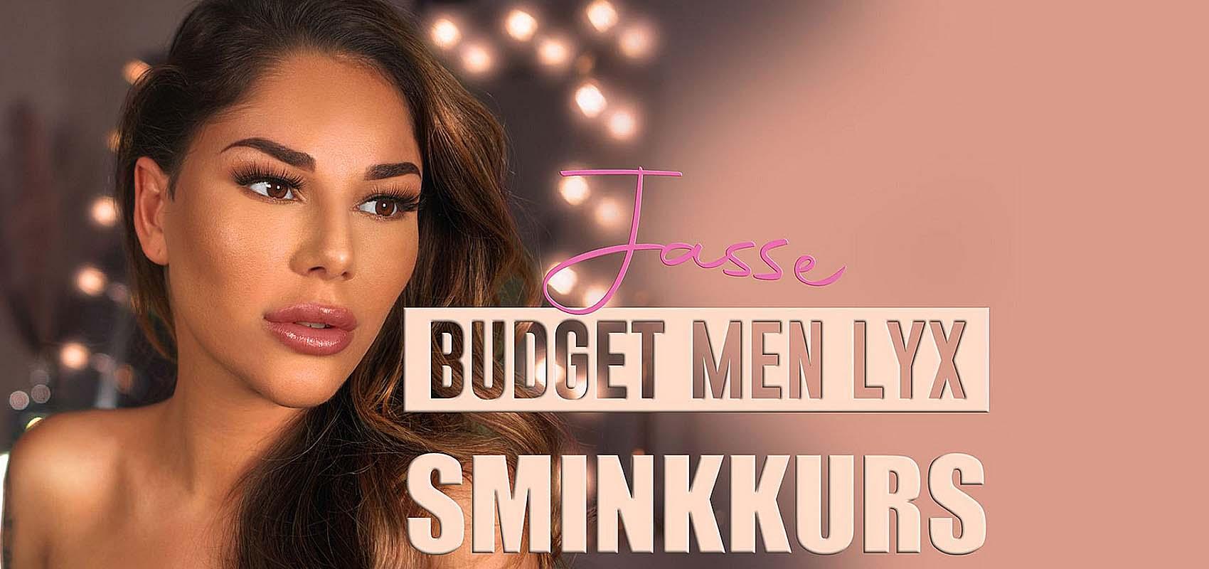"Jasmine Gustafssons ""Lyx men budget sminkkurs"""