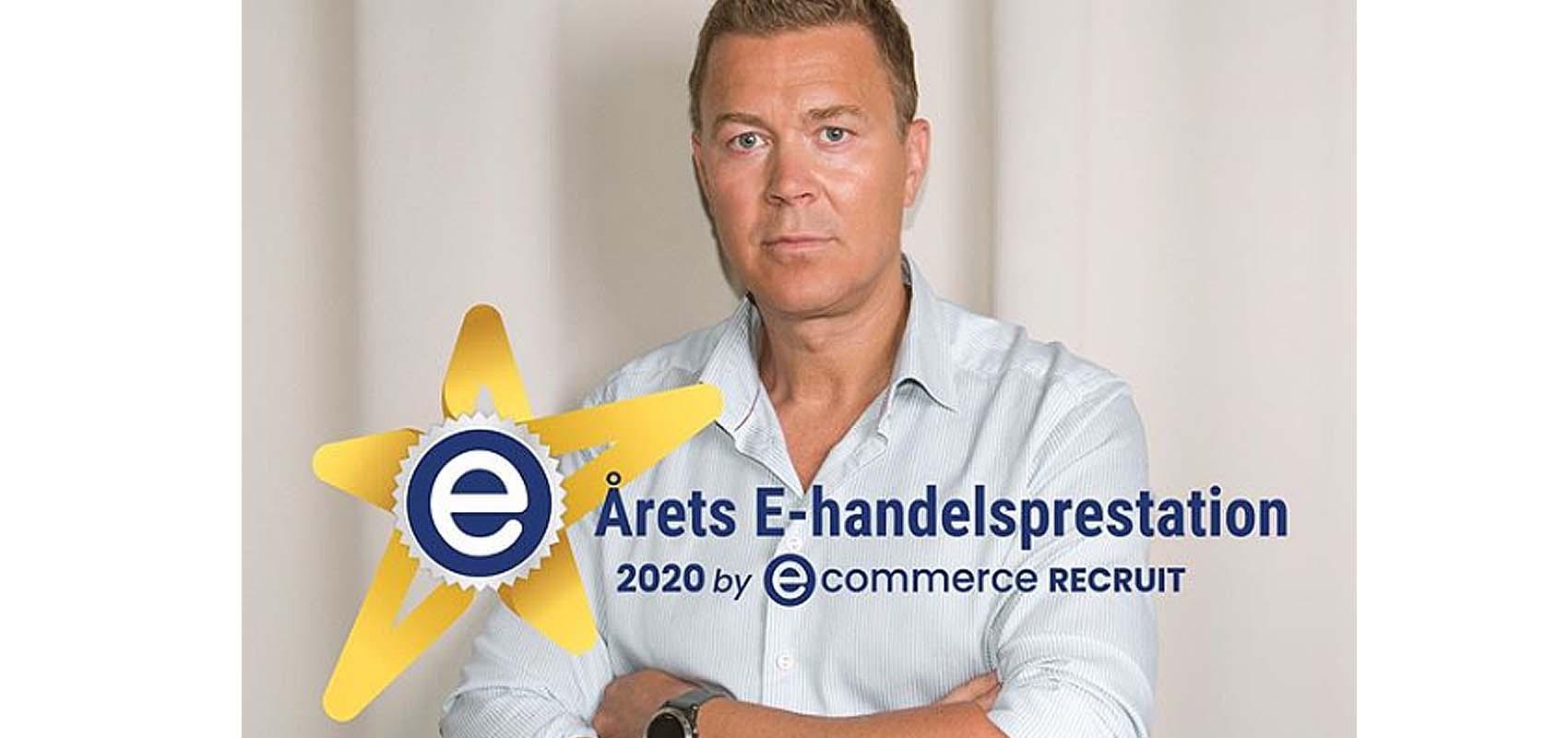 Årets e-handelsprestation till Mikael Snabb från CAIA